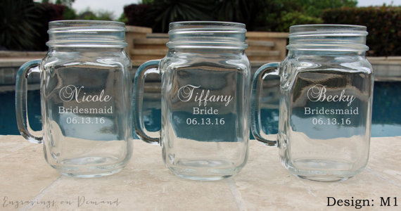 7 Mason Jar Sippy Cups Wedding Party Drinking Gles Personalized Mugs With Handle Groomsmen Favor Bridesmaid Gift Gl