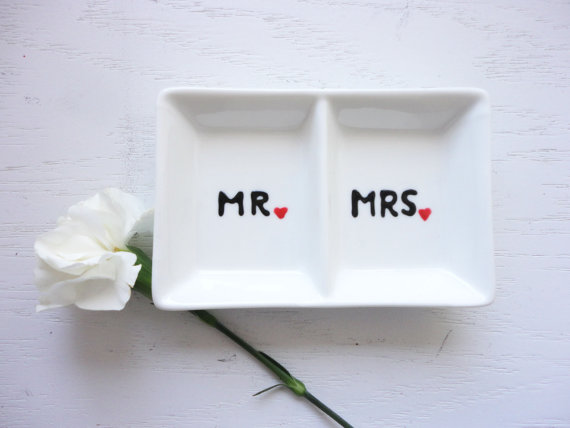Ring Dish Mr And Mrs Wedding Ring Dish For Wedding Gift For