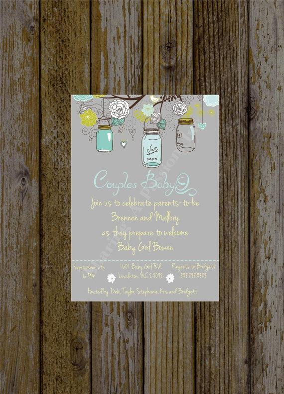 Mason jar baby shower invite couples baby shower bbq babyq mason jar baby shower invite couples baby shower bbq babyq invitation bridal shower invitation mason jar invitation printable filmwisefo