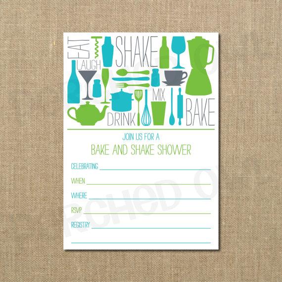 زفاف - INSTANT DOWNLOAD - Bake and Shake Couples Shower Invitation - Fill In Invitation - Kitchen Shower - Stock the Bar Shower - Digital File