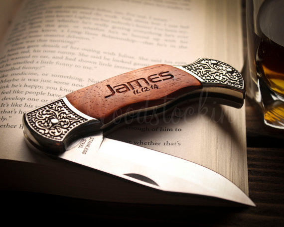 Personalized Knife Gift For Brother Best Groomsmen Birthday Gifts Men Unique Husband