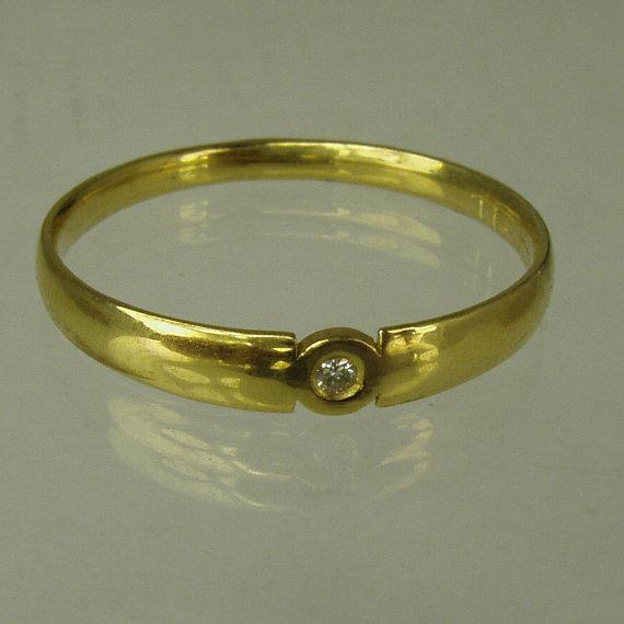 زفاف - Engagement Ring.Daimond ring,14 karat  ring, yellow gold ring,Recycled gold, Wedding Band, Gold