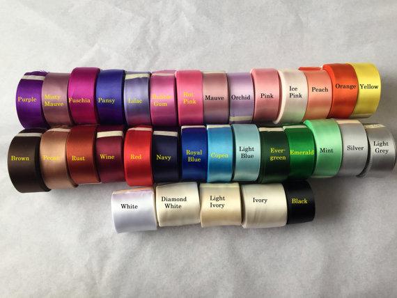 زفاف - Sash ribbon sample - choose up to 5 colors