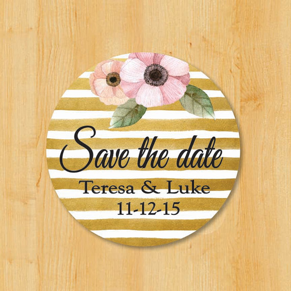 Свадьба - Save The Date Labels