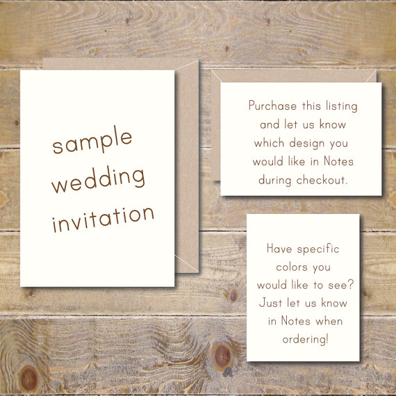 Outdoor Wedding Invitation Wording: Wedding Invitations, Rustic Wedding Invites, Wedding