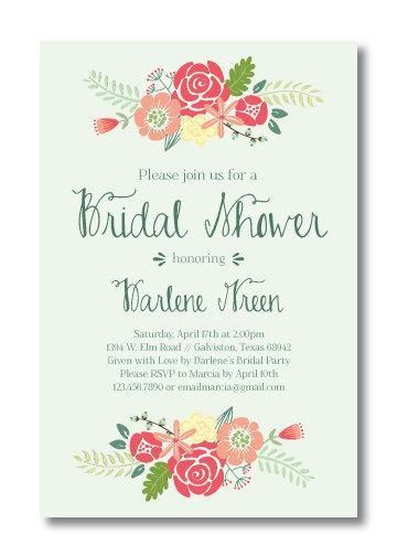 Свадьба - Printable Bridal Shower Invitation