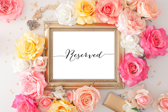 زفاف - 75% OFF SALE Wedding Reserved Printable - 8x10 Wedding Reserved, Printable Wedding Sign, Reception Printable, Wedding Decor, Calligraphy