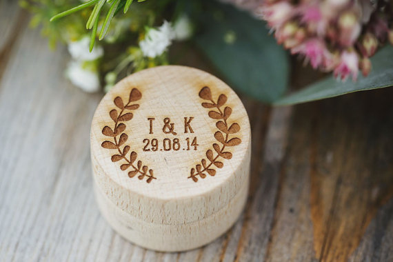 زفاف - Personalised Wooden Ring Box - Ring Pillow, Engraved Wedding Ring Box, will you marry me, engagement ring, Ring bearer, Proposal.