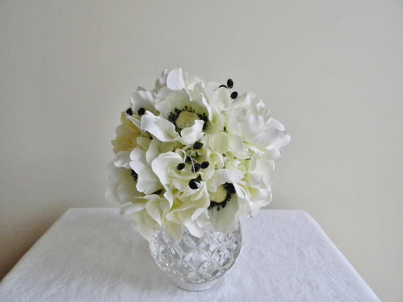 Bouquets, Bridal Bouquet, Black And White Bouquet, Wedding Bouquet ...