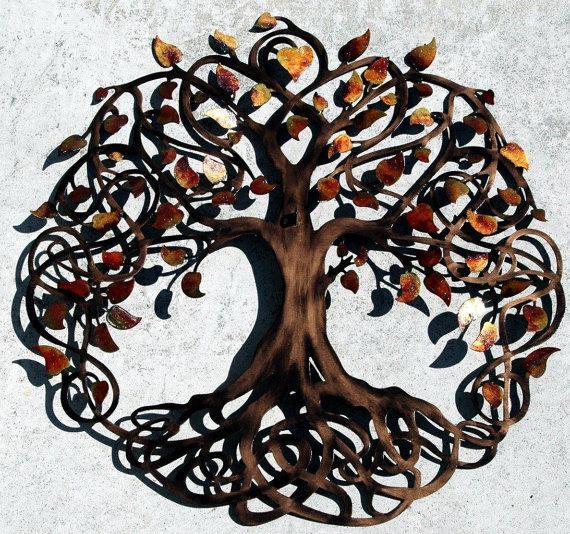 Свадьба - Autumn Blend Sparkle Leaf Love Lock Ceremony Tree of Life