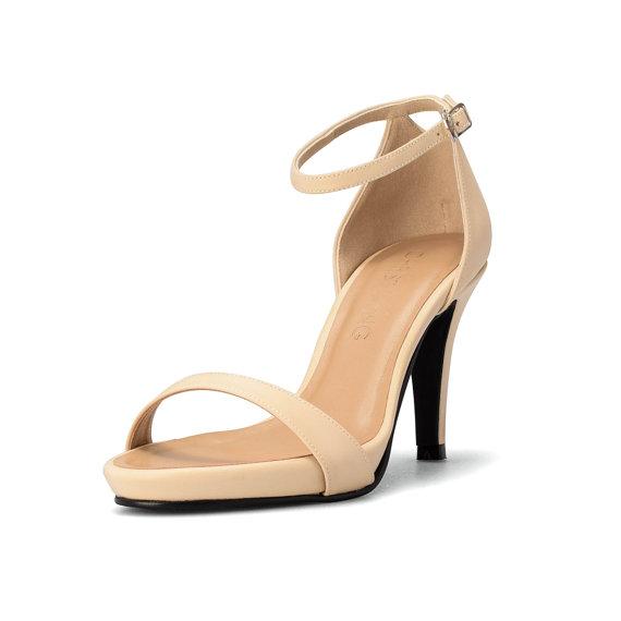 2ea8c463fb2 Nude Strappy Heels