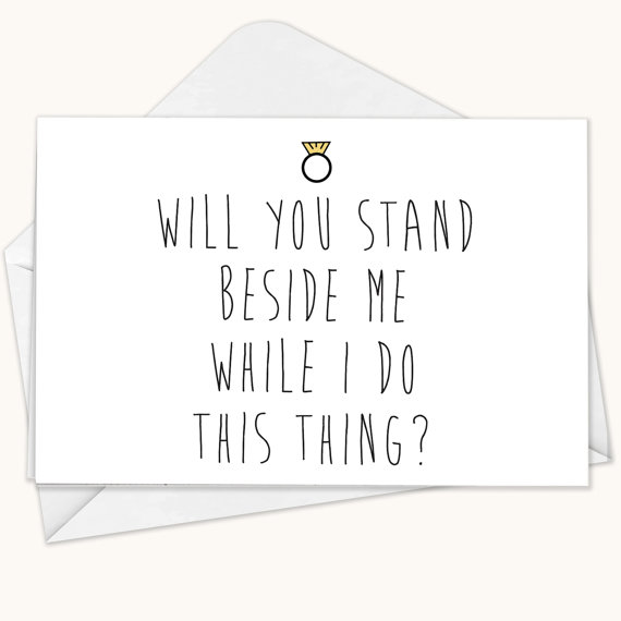 Will You Be My Bridesmaid Card Funny Maid Of Honor Wedding Blank