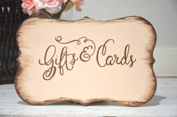 Mariage - Gifts & Cards wooden sign, wedding decorations - custom colors