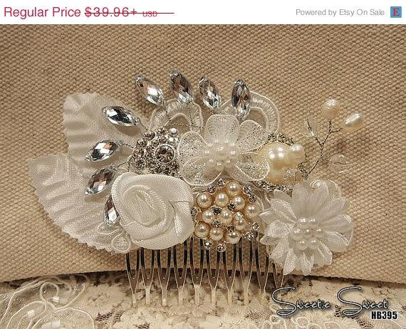 Свадьба - 40% SALE SALE 40 Percent OFF Bridal Veil, Wedding Veil, Bridal Comb, Face Veil, Birdcage Veil, mini veil, Blusher veil, Vintage Flower Fasci