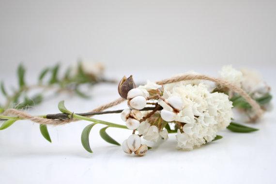 Свадьба - Vine Succulent Bridal Halo // Flower Crown // Succulent Crown