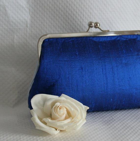 Mariage - Wedding Clutch, Cobalt Blue Bridal Clutch - Blue Wedding Purse - Bridesmaids Clutch - Bridessmaids Purse - Bridesmaid Gifts - Marion