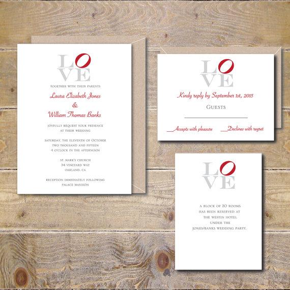 Philadelphia Love Park Wedding Invites Love Sign Wedding Rustic