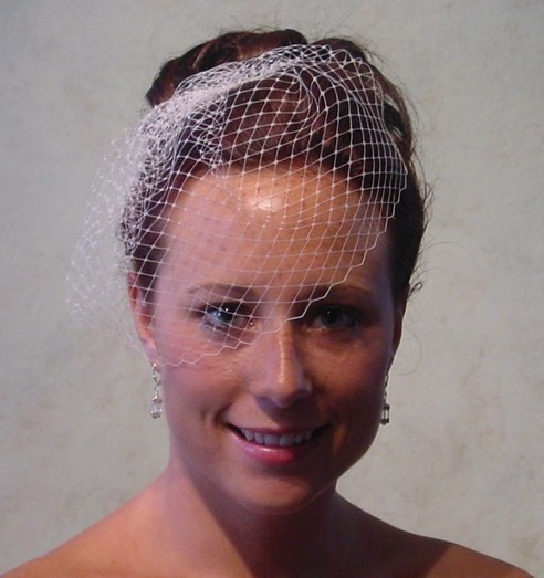 Mariage - Small Birdcage Blusher Wedding Veil Ready to Ship in Ivory