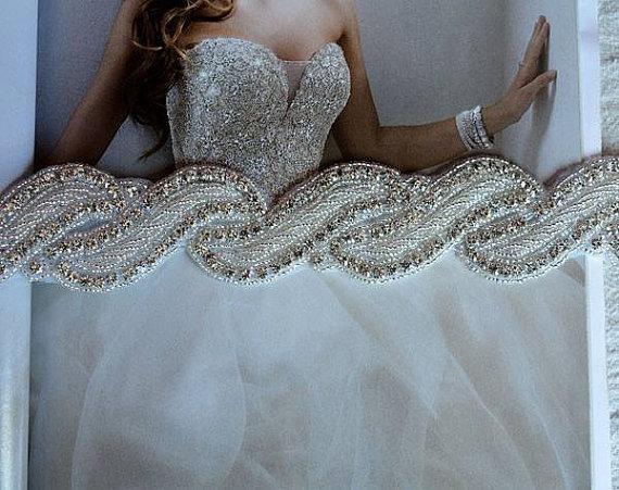 Wedding Belt, Bridal Belt, Bridesmaid Belt, Rhinestone Belt ...