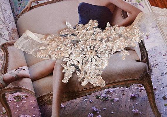 Hochzeit - Wedding Garters, Bridal Garters, Lace Garter, Wedding Garter, Bridal Garter Accessory, Leg Garters, Lace Bridal Garters