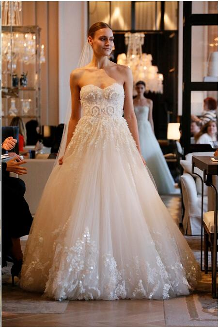 monique lhuillier 2016 wedding dresses ball gown beaded sequins