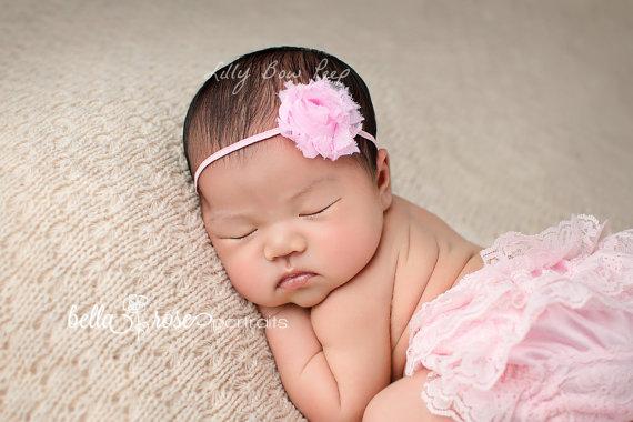 زفاف - Baby Headband, flower headband,baby headbands,newborn headband, baby girl headband, christening headband, baptism headband, Baby Bows, baby