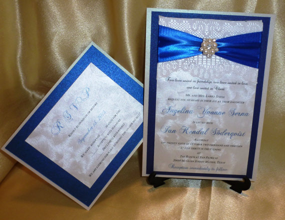 "Royal Blue Wedding Invitation Cards: Royal Blue Wedding Invitation (sample) -"" Royal Blue"