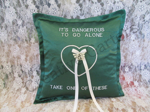 Wedding - Personalized, Embroidered Ring Bearer Pillow