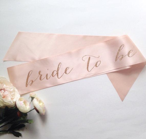 Mariage - Bride To Be Bridal Sash