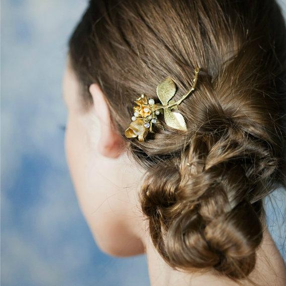 Mariage - Bridal Hair Comb, Floral Hair Accessories ,Bridal Hair Accessories, Bridal Hair Vine ,Swarovski Wedding Hair Piece, Grecian Hairpiece