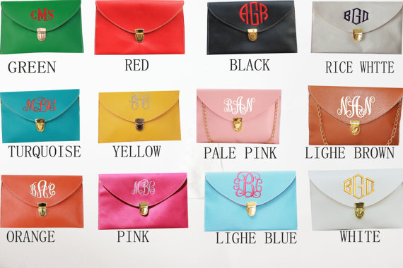 Mariage - Clutch,Monogram Clutch,monogram purse,monogram bag,handbag,clutch purse,Envelope purse,wedding gift,purse,Bridesmaid package,monogrammed