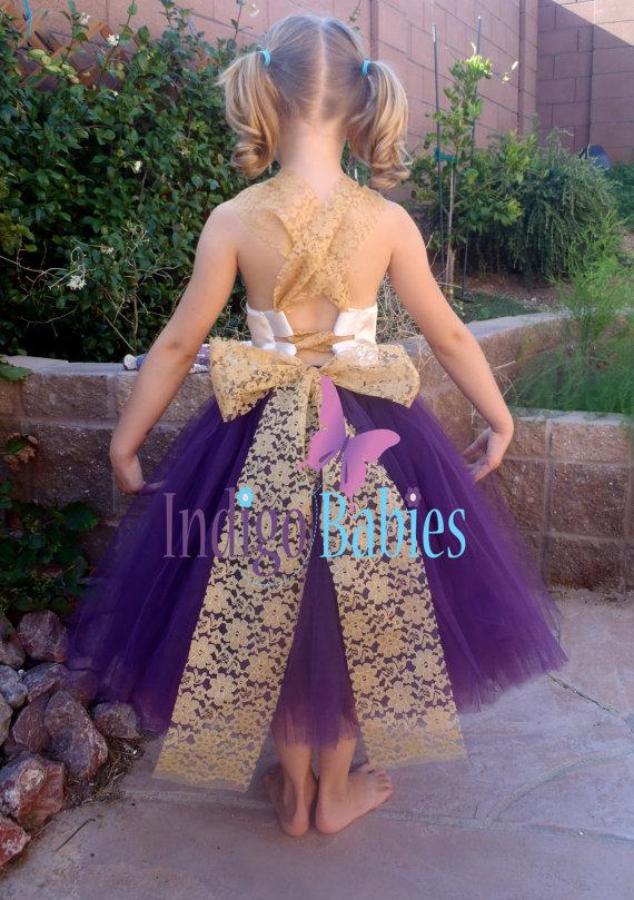 Flower girl dress weddings tutu dress dark purple plum tutu flower girl dress weddings tutu dress dark purple plum tutu cream satin top gold lace back white reception bridesmaids wedding mightylinksfo