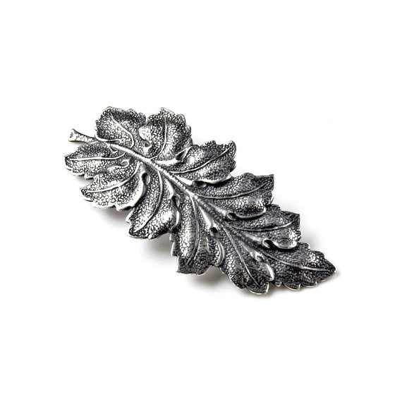 Mariage - Leaf Barrette - Hair Accessories - Women's Jewelry - Handmade - Gift Box Included
