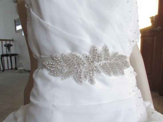 Mariage - SALE Wedding Belt, Bridal/ Wedding Belt, Bridal Belt, Sash Belt, Crystal Rhinestone, B106
