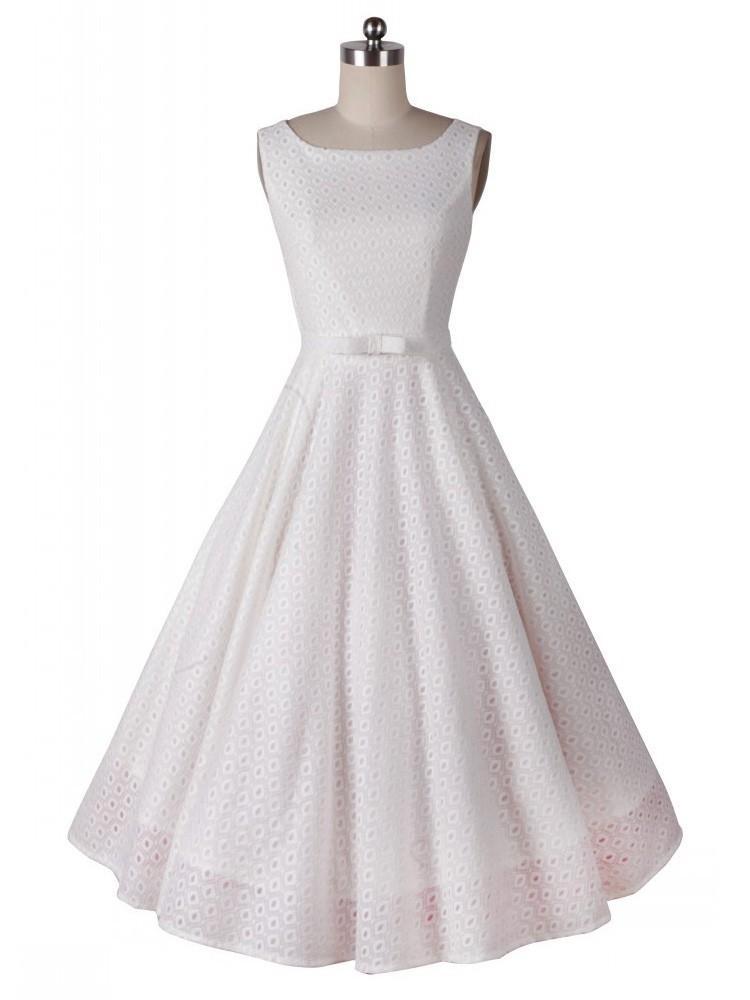 Свадьба - White Hepburn 50s lace wedding dress
