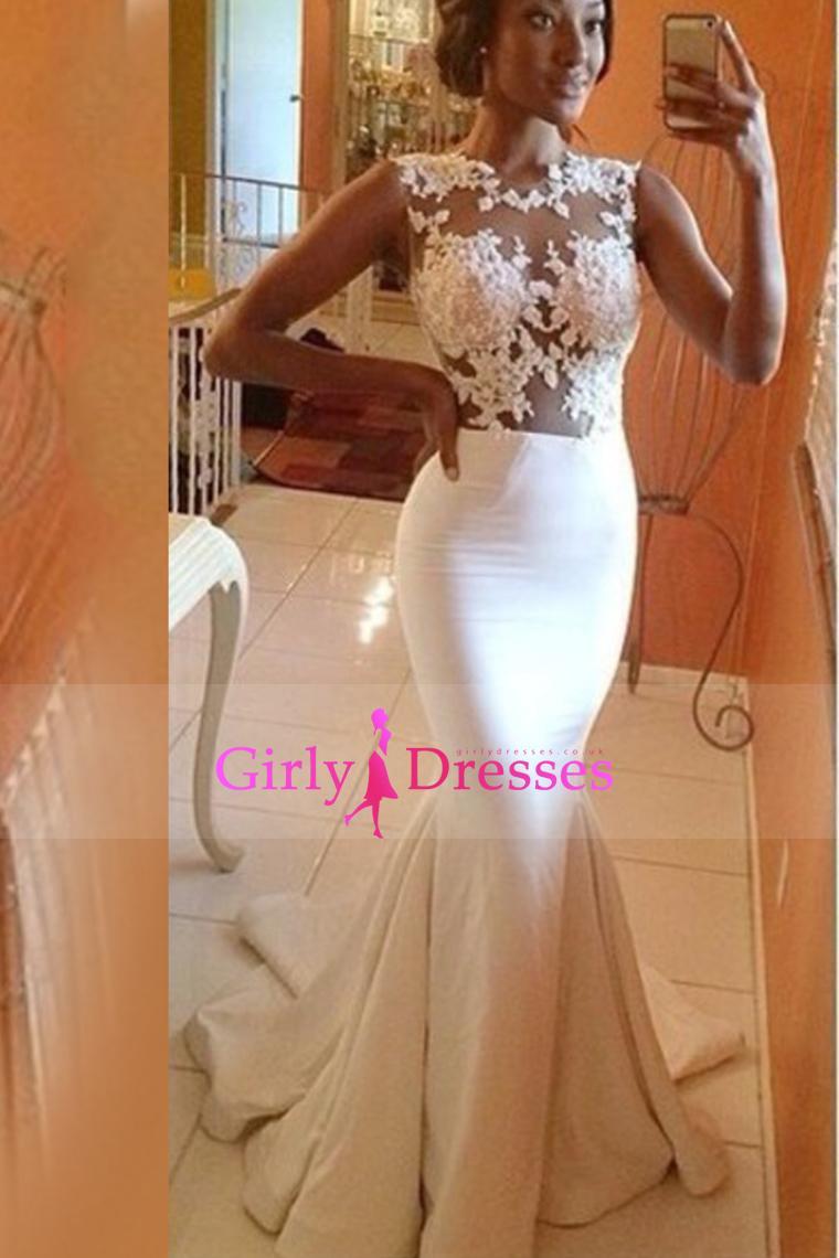 Wedding - 2015-V-Neck-Mermaid-Beaded-Bust-Prom-Dresses-Floor-Length-With-Ruffles-Taffeta