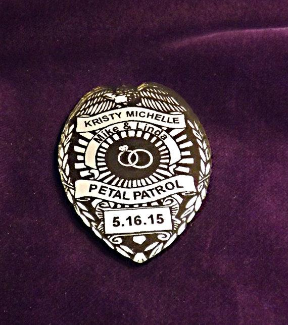 Wedding - Flower Girl Badge - Make Way for the Petal Patrol!
