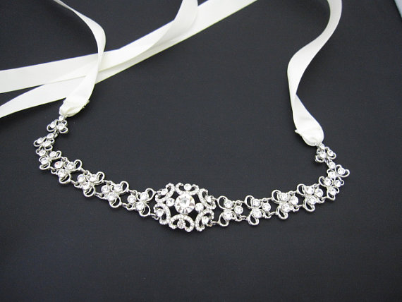hochzeit bridal crystal headbands bridal headband ribbon bridal