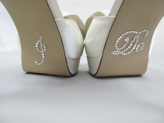 Mariage - I Do Shoe Stickers - CLEAR Rhinestone I Do Wedding Shoe Appliques - Rhinestone I Do Shoe Stickers for your Bridal Shoes