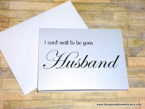 Wedding - Husband to Be Wedding Card, I Can't Wait to be your Husband Card For Bride From Groom - Wedding Card - Bride and Groom Card - Husband