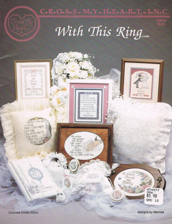 CCS Cross My Heart 44 With This Ring Wedding Cross Stitch
