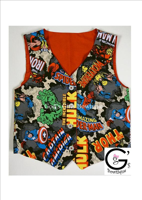 Свадьба - Avengers cake smash Superhero Boys Toddler Baby Vest Birthday Hulk Spiderman Captain American Thor Outfit Bow Tie Tuxedo Vest Ring Bearer