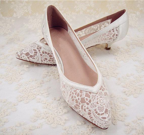 زفاف - Wedding Shoes, Lace Bridal Shoes, Lace Wedding Shoes, Bridesmaid Shoes, Hollowed Lace Shoes, Floral Lace Bridal Shoes, Prom Shoes
