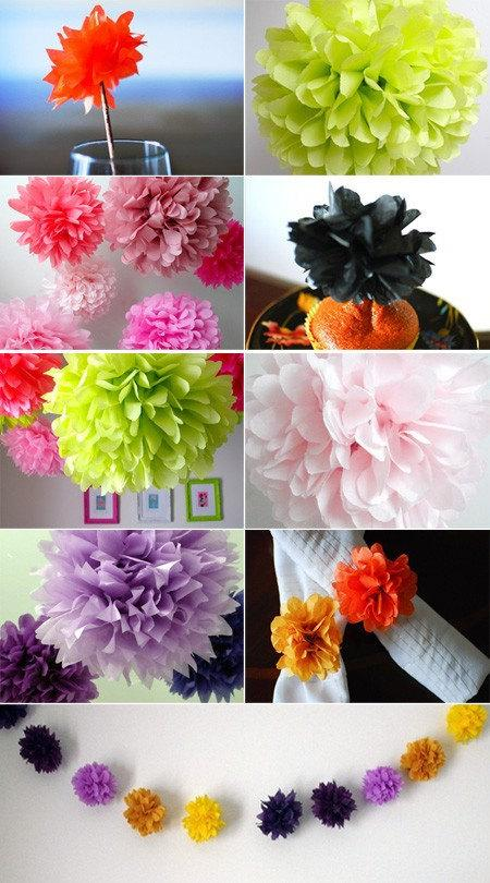 Свадьба - Color Samples - Tissue Paper Pom Poms