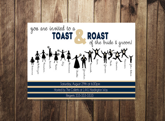 Engagement Party Invitation, Bride And Groom Roast And ...
