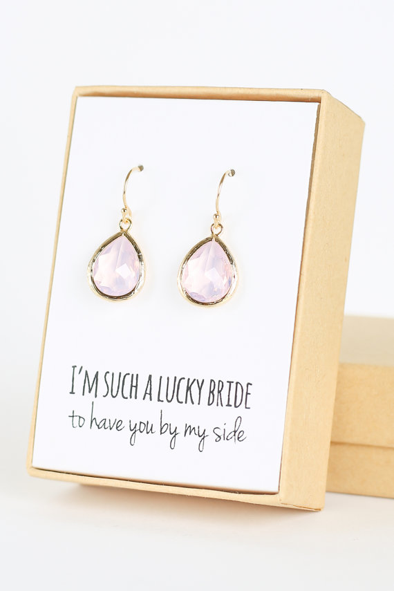il listing gray teardrop bridesmaid grey pearl earrings