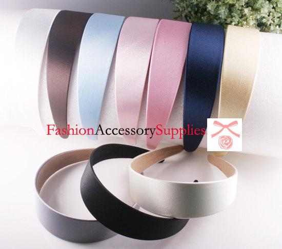 زفاف - 20PCS-40MM Handmade Satin Headband-2of each color(G103)