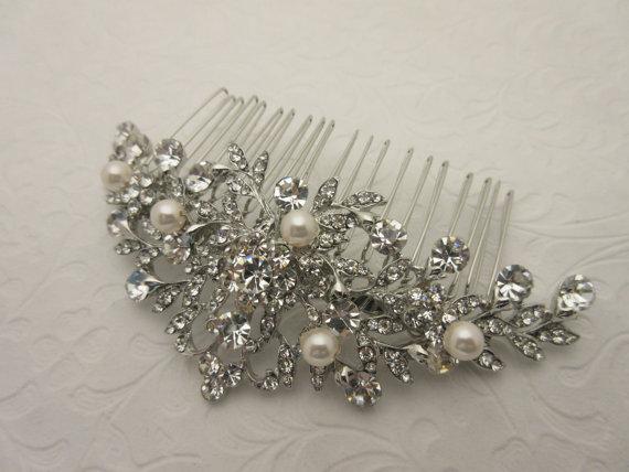 Свадьба - Bridal hair comb pearl wedding hair comb pearl wedding headpiece wedding hair accessories wedding hairpiece wedding hair jewelry bridal comb