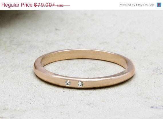 Mariage - 25% OFF - 14k rose gold ring,engagement ring,bridal ring,wedding ring,gemstone ring,stacking ring,gold stackable rings