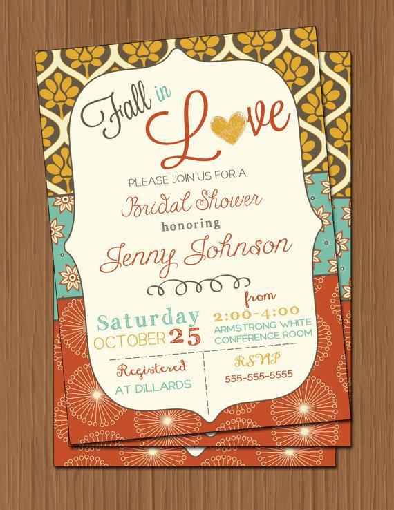 زفاف - Fall Bridal Shower Invitation Fall Wedding Shower Invitation